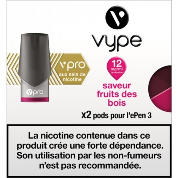 Fruits des bois vPro 12mg ePen3 - Vype