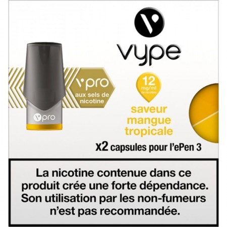 Mangue Tropicale vPro 12mg ePen3 - Vype