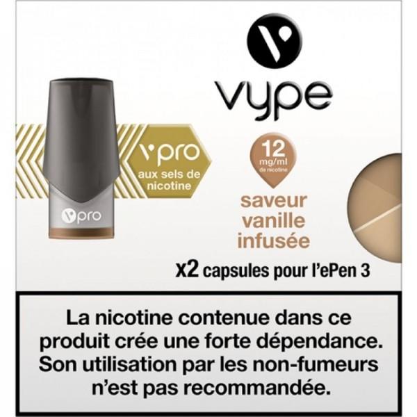 Vanille infusée vPro 12mg ePen3 - Vype