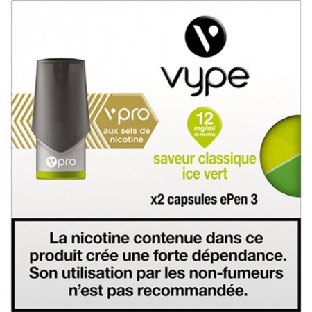 Classique Ice Vert vPro ePen3 - Vype